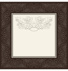 Ornamental restaurant menu vector image