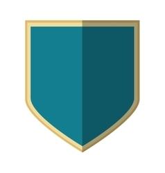 silver shield protection badge shadow vector image