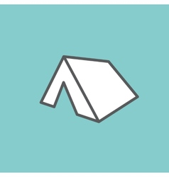 White tent vector image
