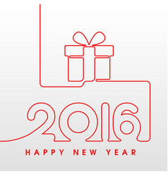 2016 happy new year gift vector image