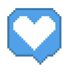 8 bit like bubble icon vector
