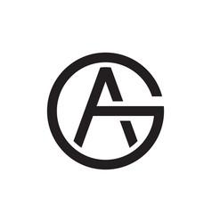 A g g circle letter logo design vector