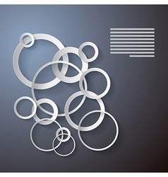 Abstract Background Made from Paper Cut Circles vector image