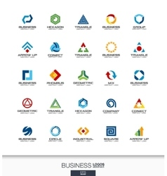 Abstract logo set for business company Technology vector image