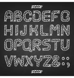 alphabet rope vector image