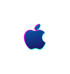 apple icon logo or symbol isolated vector image