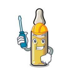 Automotive ampoule mascot cartoon style vector