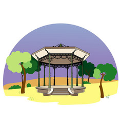 Bandstand in the park vector