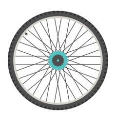 Bicycle wheel in flat style vector