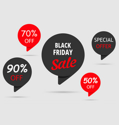 black friday sale special offer set tag 50off vector image