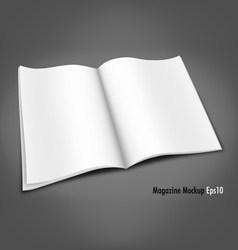 Blank Magazine Mockup Template vector image