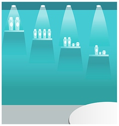 Bottle display stand vector
