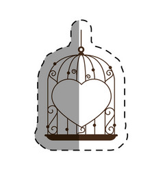 cage with heart icon vector image