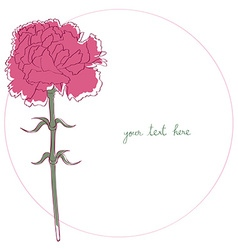 Carnation simple card vector