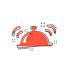 cartoon bell icon in comic style alarm bell vector image