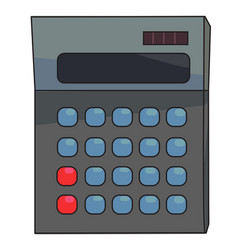 Cartoon image of calculator icon mathematics vector