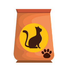 cat food bag icon vector image