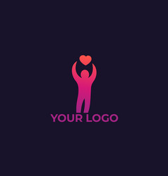charity logo vector image