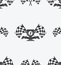 Checkered Flag or racing flags icon seamless vector