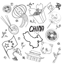 China Icons Set vector image