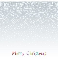 Christmas New Year Snow Fake Dots Background vector