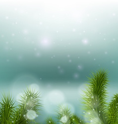 christmas tree on a background a snowy vector image