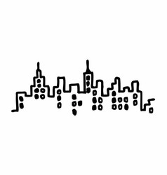 city freehand vector image