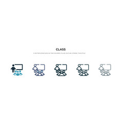 Class icon in different style two colored and vector