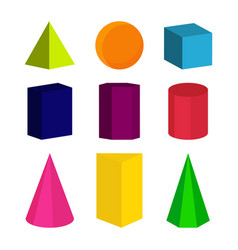 colour geometric shapes vector image