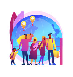 Community migration abstract concept vector