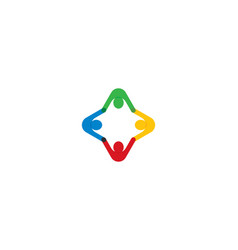 community symbol vector image