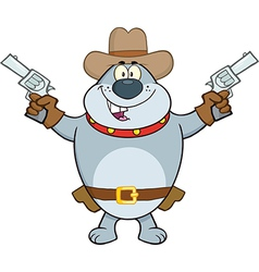 Cowboy dog cartoon vector