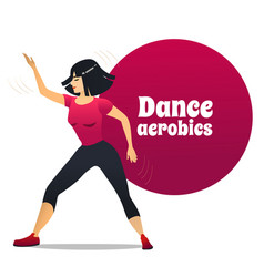 Dance aerobics in cartoon style vector