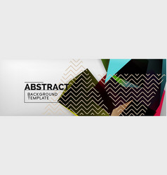 dark color geometric abstract background 3d vector image