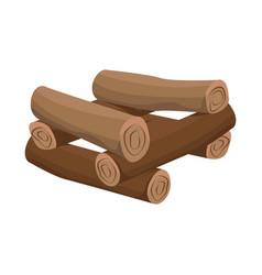 Design log and firewood symbol set of vector