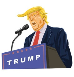 Donald Trump Giving A Speech vector image