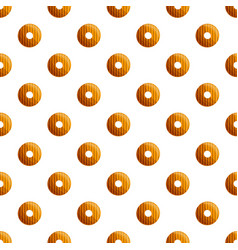 donut biscuit pattern seamless vector image