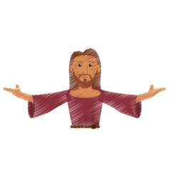 Drawing jesus christ salvation devotion design vector