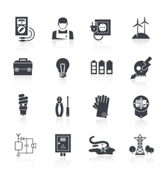 Electricity Icon Black vector