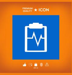 Electrocardiogram icon vector