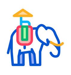 Elephant for excursions icon thin line vector