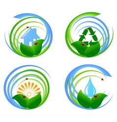 Environmental design elements vector