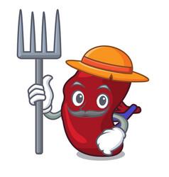 Farmer spleen character cartoon style vector