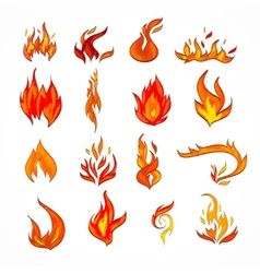 Fire icon sketch vector