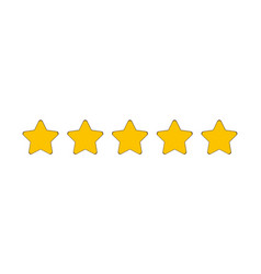 five stars rating collection customer product vector image
