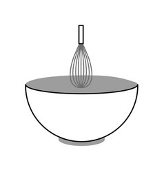 handle mixer with dish vector image