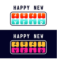 happy new year with 2021 scoreboard concept vector image