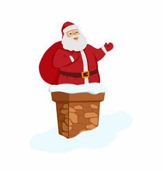 Happy santa claus - cartoon character isolated vector