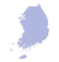Honeycomb south korea map vector
