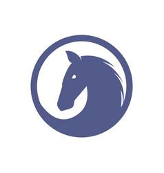 Horse logo simple minimalist design vector